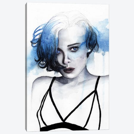 Blue Canvas Print #VIO6} by Victoria Olt Art Print