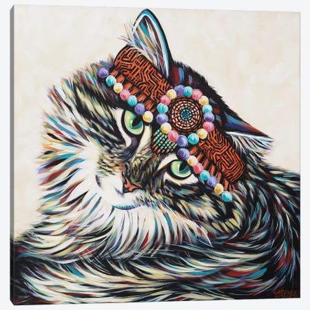 Hippie Cat I Canvas Print #VIT114} by Carolee Vitaletti Canvas Print