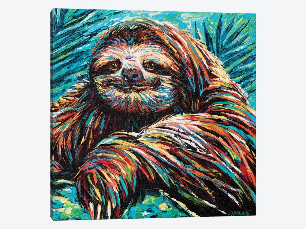 Painted Sloth I by Carolee Vitaletti 1-piece Art Print