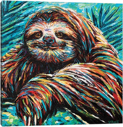 Painted Sloth I Canvas Art Print