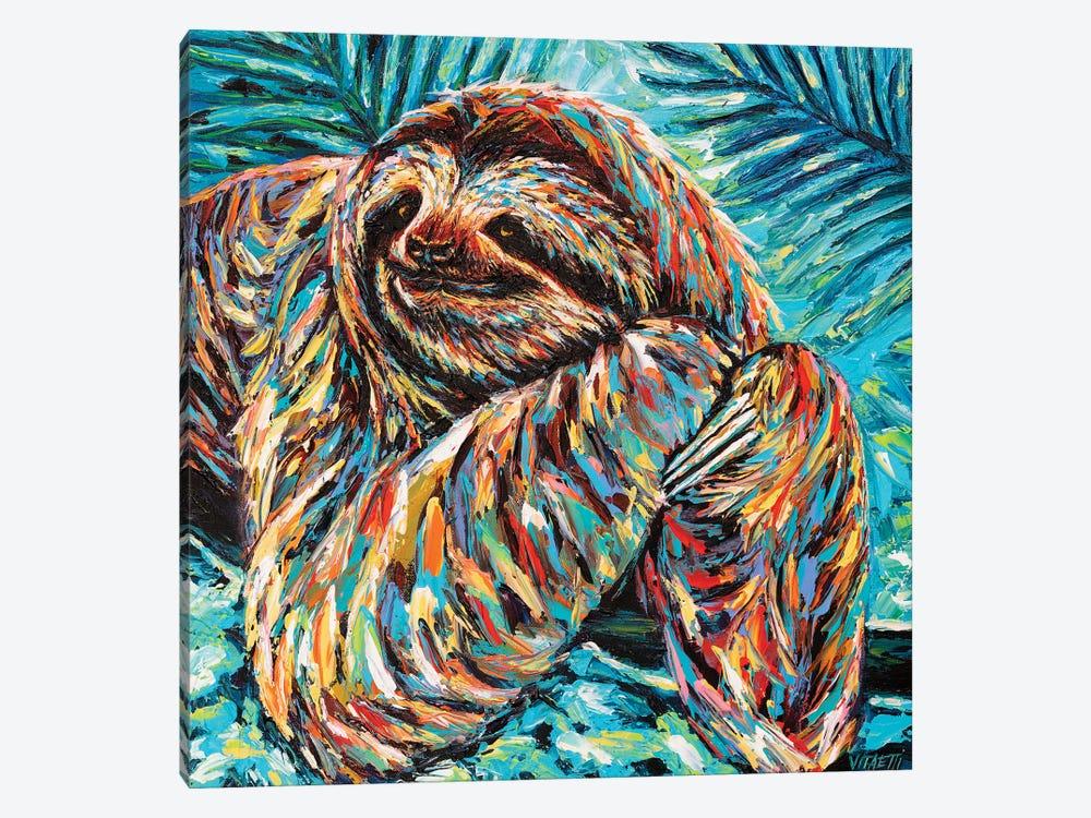 Painted Sloth II by Carolee Vitaletti 1-piece Canvas Artwork
