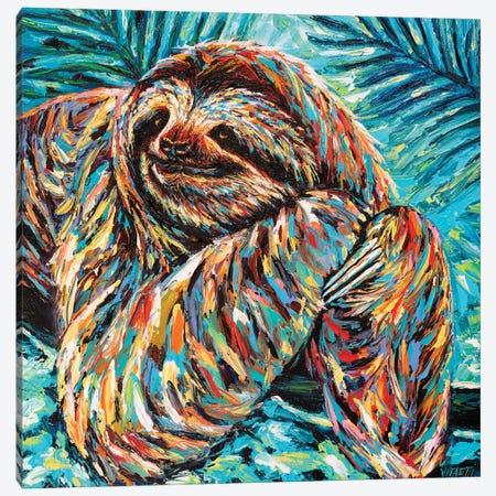 Painted Sloth II Canvas Print #VIT119} by Carolee Vitaletti Canvas Wall Art