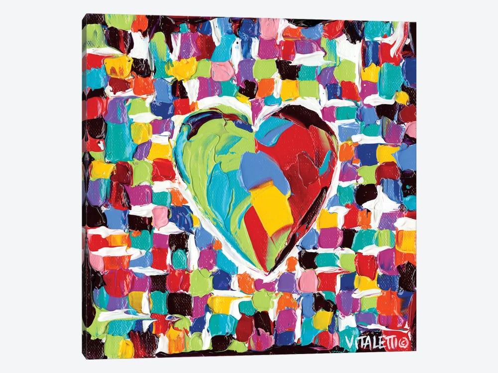 Mosaic Heart I by Carolee Vitaletti 1-piece Canvas Artwork