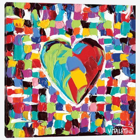 Mosaic Heart I Canvas Print #VIT11} by Carolee Vitaletti Canvas Art
