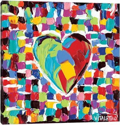 Mosaic Heart I Canvas Print #VIT11