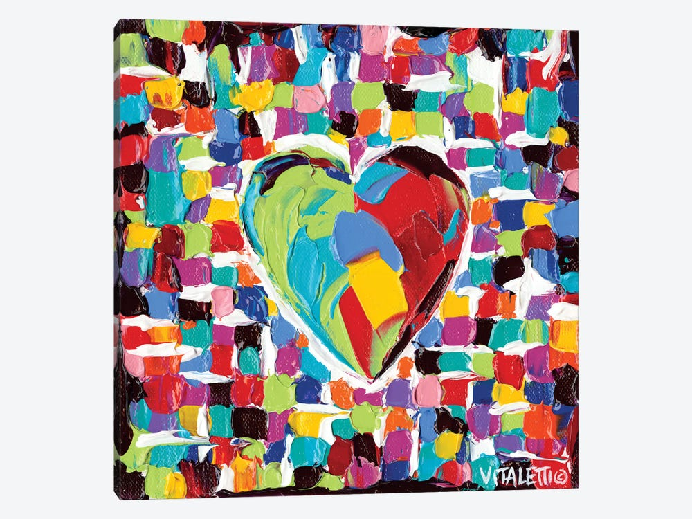 Mosaic Heart I by Carolee Vitaletti 1-piece Canvas Artwork