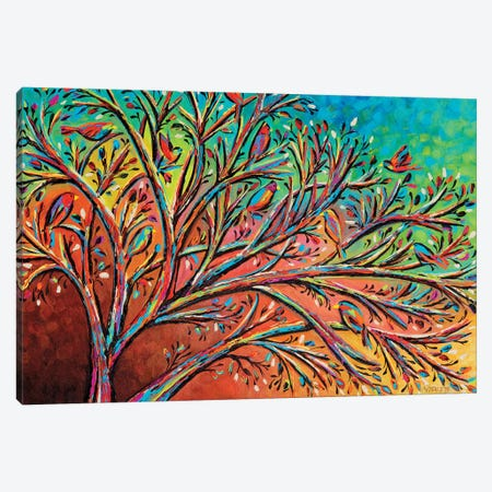 Sunrise Treetop Birds II Canvas Print #VIT121} by Carolee Vitaletti Canvas Print