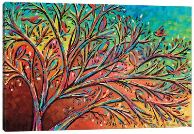 Sunrise Treetop Birds II Canvas Art Print
