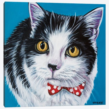 Classy Cat I Canvas Print #VIT122} by Carolee Vitaletti Canvas Art Print