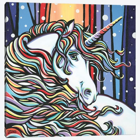 Magical Unicorn I Canvas Print #VIT126} by Carolee Vitaletti Canvas Wall Art