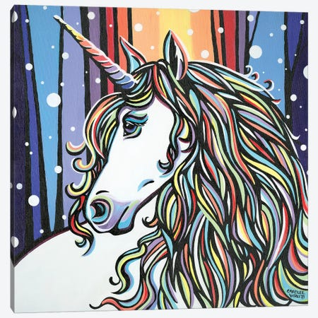 Magical Unicorn II Canvas Print #VIT127} by Carolee Vitaletti Canvas Art