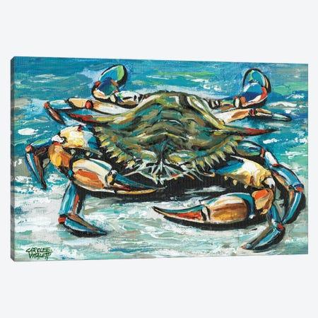 Blue Palette Crab I Canvas Print #VIT128} by Carolee Vitaletti Canvas Art Print