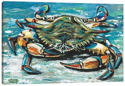 Blue Palette Crab I Canvas Art Print