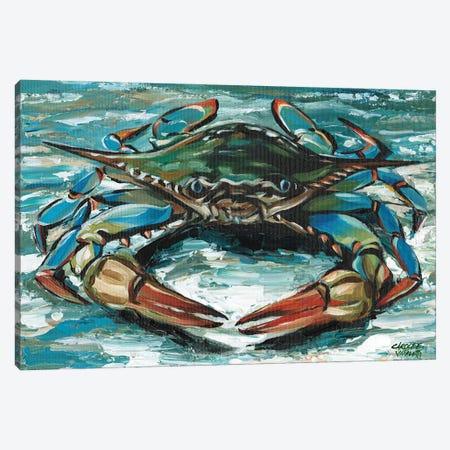 Blue Palette Crab II Canvas Print #VIT129} by Carolee Vitaletti Art Print