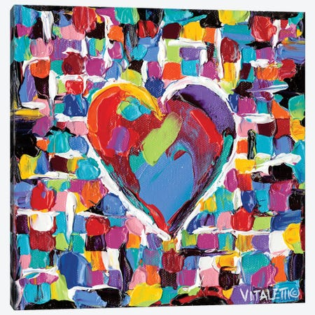 Mosaic Heart II Canvas Print #VIT12} by Carolee Vitaletti Canvas Artwork