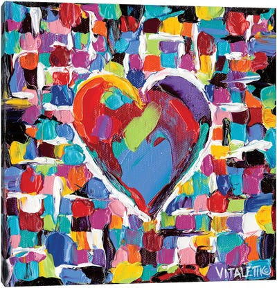 Mosaic Heart II Canvas Print #VIT12