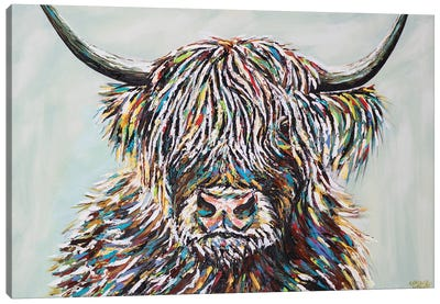 Woolly Highland II Canvas Art Print