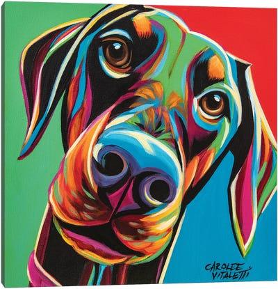 Chroma Dogs I Canvas Art Print