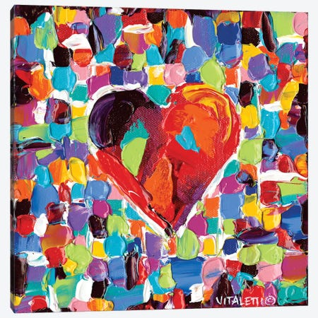 Mosaic Heart III Canvas Print #VIT13} by Carolee Vitaletti Canvas Wall Art