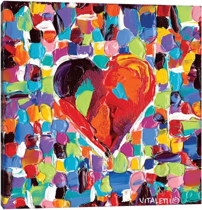 Mosaic Heart III by Carolee Vitaletti Canvas Art Print