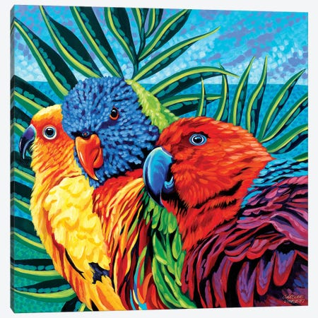 Birds In Paradise I Canvas Print #VIT20} by Carolee Vitaletti Canvas Print