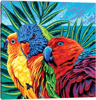 Birds In Paradise I Canvas Art Print