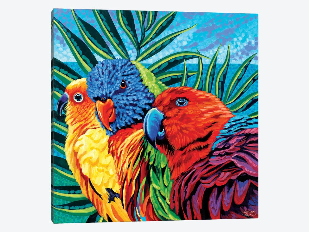 Birds In Paradise I by Carolee Vitaletti 1-piece Canvas Wall Art