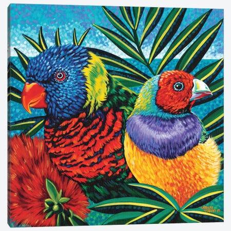 Birds In Paradise II Canvas Print #VIT21} by Carolee Vitaletti Canvas Print