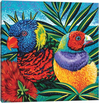 Birds In Paradise II Canvas Art Print