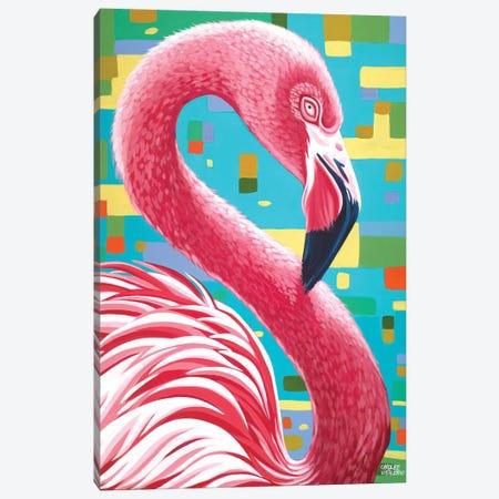 Fabulous Flamingos I Canvas Print #VIT23} by Carolee Vitaletti Art Print