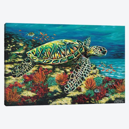 Deep Sea Swimming II Canvas Print #VIT26} by Carolee Vitaletti Canvas Artwork