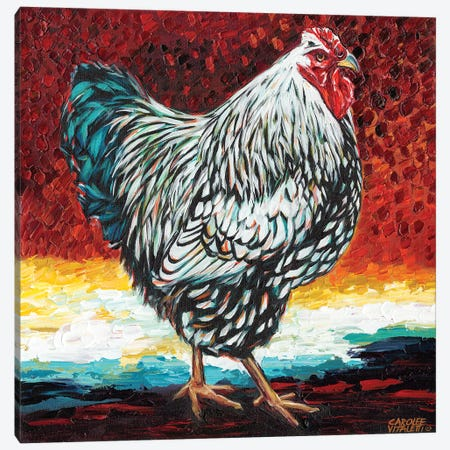 Fancy Chicken I 3-Piece Canvas #VIT27} by Carolee Vitaletti Canvas Artwork