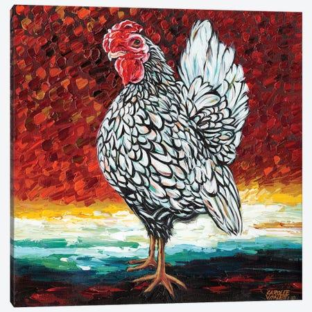Fancy Chicken II Canvas Print #VIT28} by Carolee Vitaletti Art Print
