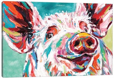 Piggy I Canvas Art Print