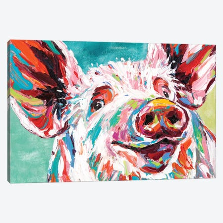 Piggy I 3-Piece Canvas #VIT29} by Carolee Vitaletti Canvas Print