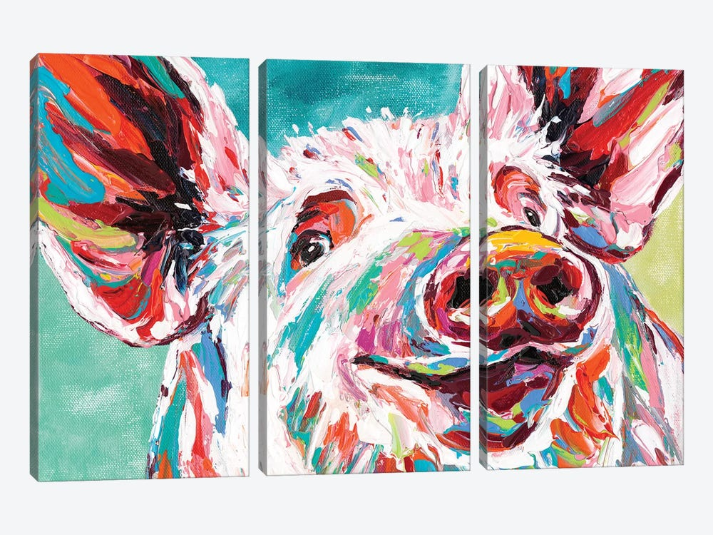 Piggy I by Carolee Vitaletti 3-piece Canvas Print