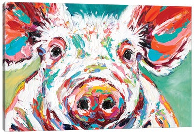 Piggy II by Carolee Vitaletti Canvas Art Print