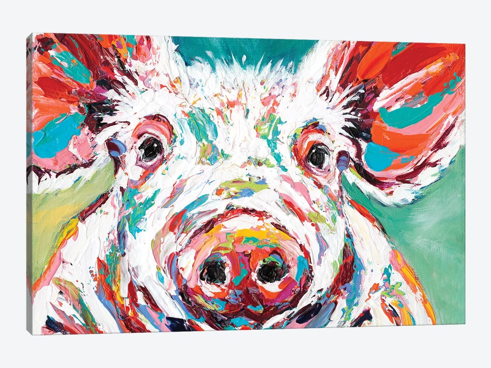 Piggy II by Carolee Vitaletti 1-piece Canvas Print