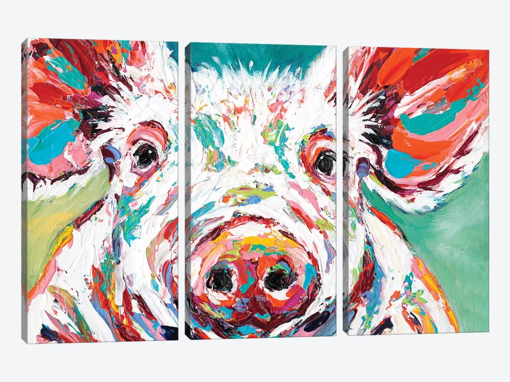 Piggy II by Carolee Vitaletti 3-piece Art Print