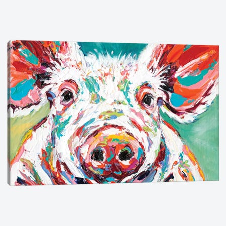 Piggy II 3-Piece Canvas #VIT30} by Carolee Vitaletti Canvas Wall Art