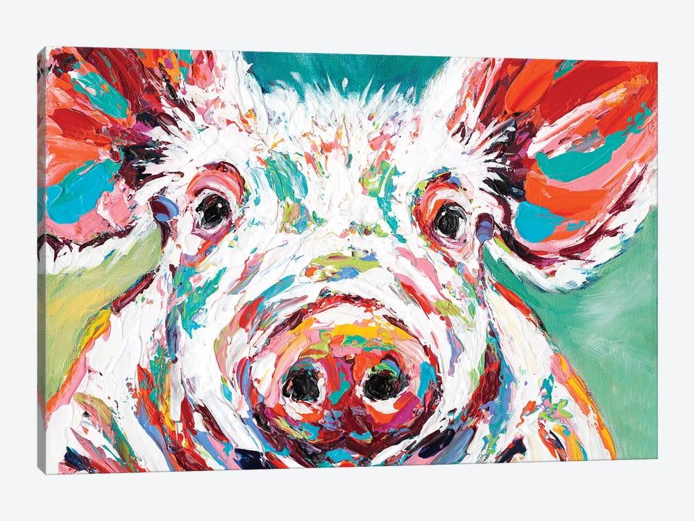 Piggy II by Carolee Vitaletti 1-piece Canvas Print