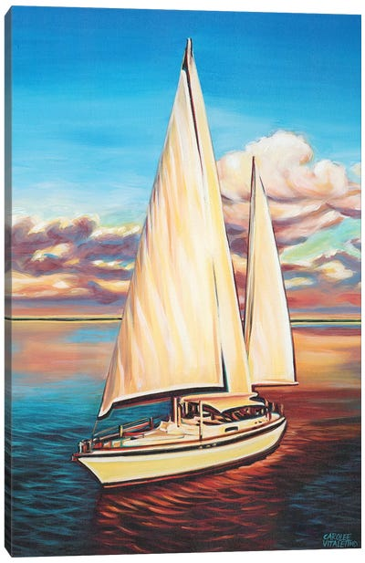 Sunset Cruise I Canvas Art Print