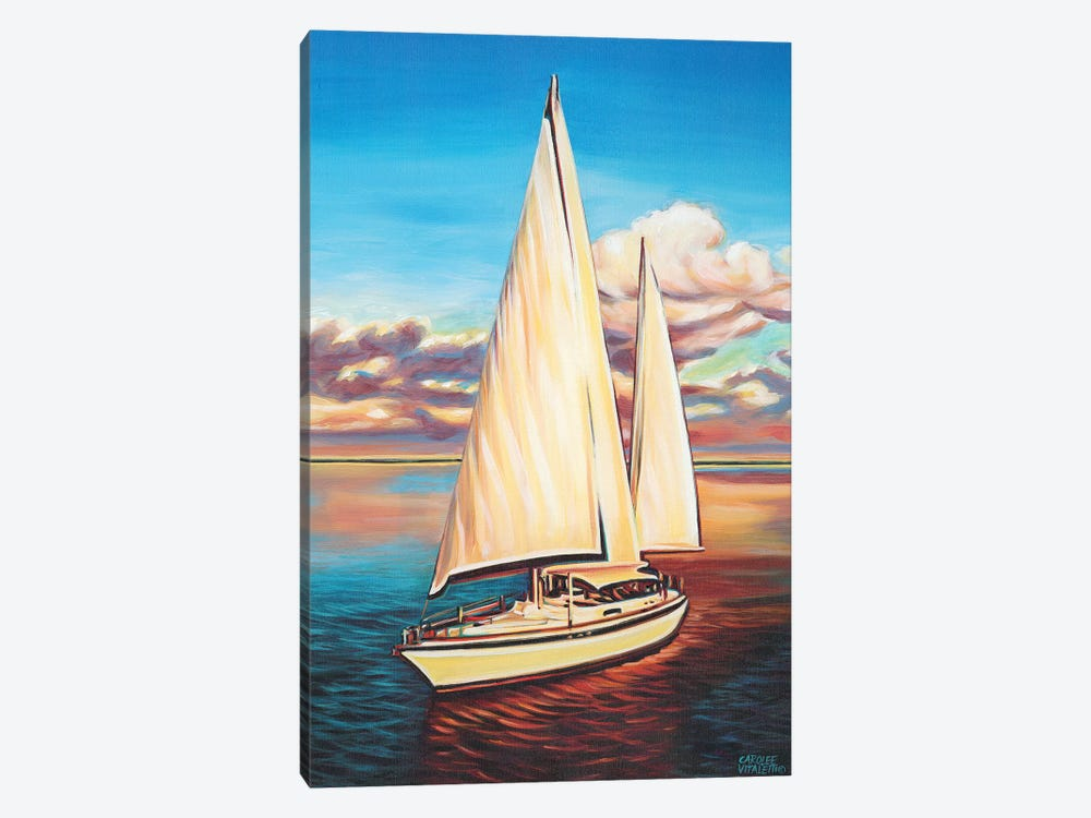 Sunset Cruise I by Carolee Vitaletti 1-piece Canvas Art