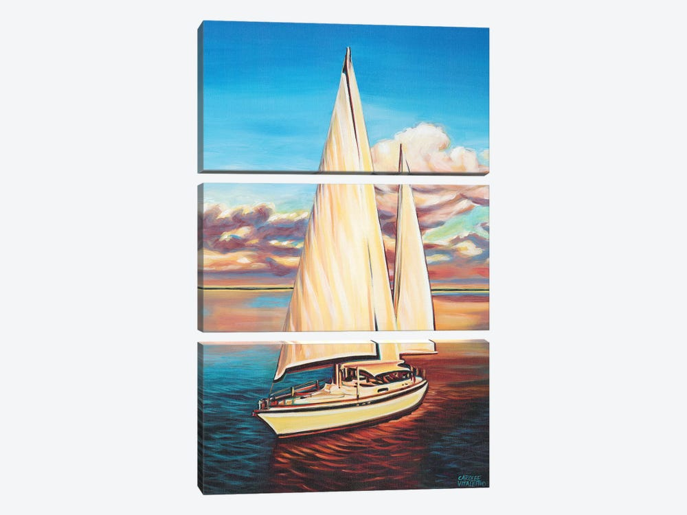 Sunset Cruise I by Carolee Vitaletti 3-piece Canvas Artwork