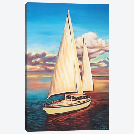 Sunset Cruise I 3-Piece Canvas #VIT35} by Carolee Vitaletti Canvas Print