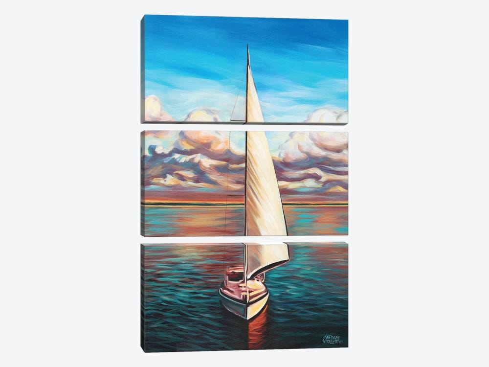 Sunset Cruise II by Carolee Vitaletti 3-piece Canvas Print