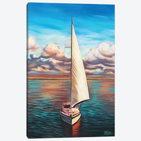 Sunset Cruise II 3-Piece Canvas #VIT36} by Carolee Vitaletti Canvas Print