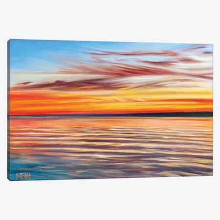 Tranquil Sky I 3-Piece Canvas #VIT37} by Carolee Vitaletti Canvas Print