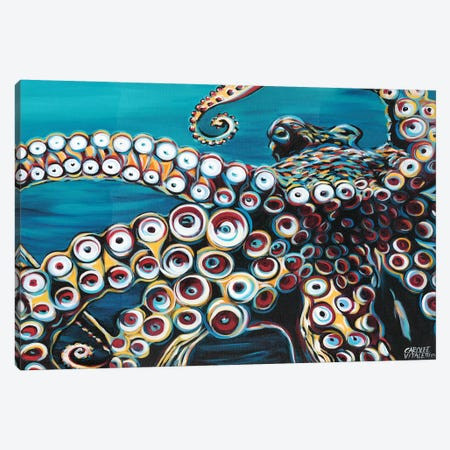 Wild Octopus I Canvas Print #VIT39} by Carolee Vitaletti Canvas Artwork