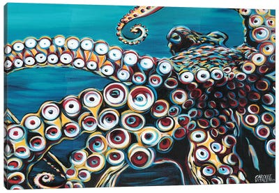 Wild Octopus I by Carolee Vitaletti Canvas Art Print